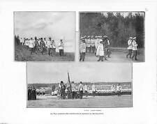Krasnoie Selo OFFICE DIVIN TSAR NICHOLAS II RUSSIE RUSSIA ANTIQUE PRINT 1901