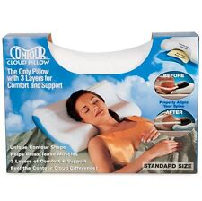 Contour Cloud Foam Bed Pillow Aligns Neck, Head & Spine for Cervical Support