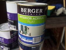BERGER BY DULUX 1 LITRE INTERIOR FLAT  WHITE colour paint