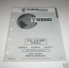 OMC Cobra 3.0 / 3.0 HO Stern Drives Parts Catalog 1993
