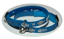 Blue Fish Cat Waterproof Safety Collars - 31cm