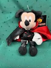New listing Rare Halloween Disneyland Paris Vampire Mickey Mouse Plush Soft Toy Nwt