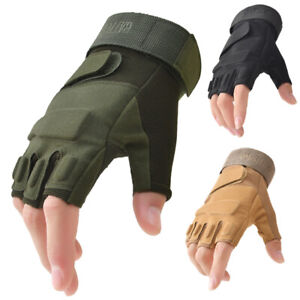 Military Half Finger Fingerless Tactical Hunting Cycling Gloves Outdoor Sport US