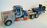 Transformers Optimus Prime Truck Blue and Grey with Flames