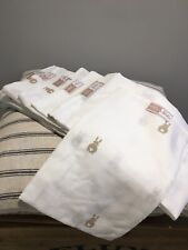 """6 x Olly and Belle Bunny Muslin Comforters 22"""" x22"""". New"""