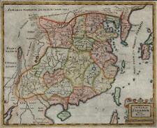China Chinese Empire Korea Asia 1694 Mosting rare map superior hand color