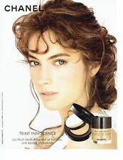 Publicité Advertising  0817  2006  Chanel cosmétiques  fond de teint