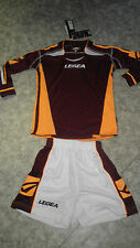 TOP ! 14 Trikot-Sets (Trikot+Hose) ATENE  v. LEGEA, weinrot/orange S,M