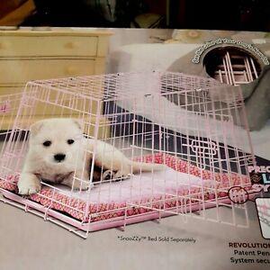 "PINK 2 DOOR, 24"" DOG CRATE, SNOOZY BABY, PRECISION PET, FREE local p/u"