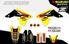 SUZUKI RMZ 250 2007 - 2009 MOTOCROSS MX GRAPHICS DECAL KIT - OEM STYLE