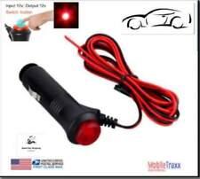 12V-24V Male Car Cigarette Lighter Socket Plug Connector Red On/Off Switch