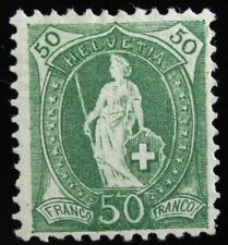 SWITZERLAND – Sc #96a– 50c – GREEN – 1899 – MINT – NO GUM - AUG