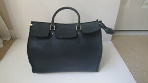 Carolina Herrera Midi Vendome Black Handbag