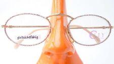 Brillengestell Metall Fassung Frauen Zeiss Marke hell mit ovalen Gläsern Gr M