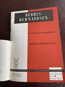 Schölzke Berufs Dermatosen von 1964 Heft mit viel Werbung