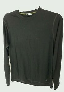 Smartwool Pullover Baselayer Black Long-Sleeve Top Mens L