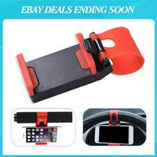 New listing Red Universal Car Steering Wheel Clip Mount Holder Cradle Stand For Cell Phone