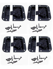 4 Pack Black Finish Medium Recessed Butterfly Latch Pedal Board Cases A3020BK