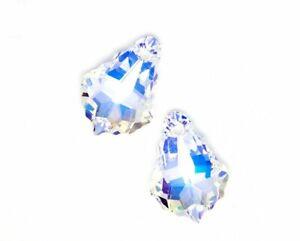 Swarovski Crystal Clear AB Baroque 6090 Pendant Drop 16 mm Popular USA ❤ H18