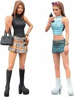 Hasegawa HFC02 1:24 90's Platform Boots Girls Figure-Two Kits in One Box, M