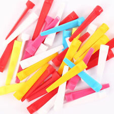 Golf Plastic Tees 50 Pack Strong Wedge Tee 70MM Large Assorted Bright Colors AU
