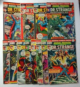 MARVEL PREMIERE 3 4 5 6 7 8 9 10 11 12 13 14 Bronze Dr. Strange Lot Set Run