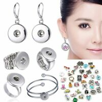 Chic Snap-it Chunk Floating Locket Charms Button Ring Earrings Bracelet Jewelry