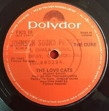 "THE CURE -The Love Cats- Rare Irish Polydor 7"" Pressing  (Record/Vinyl) Lovecats"