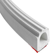 """D-Seal White EPDM w heavy duty adhesive RV Slide out 7/8""""w x 1""""H D seal per foot"""