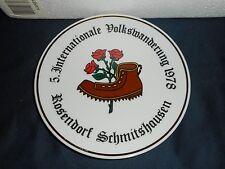 GERMANY COLLECTOR PLATE ILSE SCHMIDT ROSENDORF SCHMITSHAUSEN GERMAN PORCELAIN