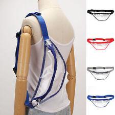 USA Womens Fanny Pack PVC Clear Pouch Belt Waist Bum Bag Waist Phone Pocket