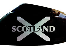 Scotland Scottish Flag Car Sticker Wing Mirror Decals (Set of 2), Chrome Silver