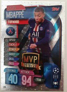 2019/20 Match Attax Soccer Card - Kylian Mbappe MVP PSG