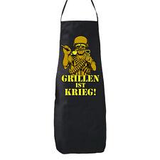 Grillen ist Krieg - Schürze Party Fun Kochen Küche Würstchen Smoker BBQ