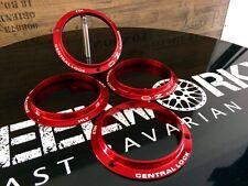 4x Ringe für Porsche Zentralverschluss OZ rot centrallock NEU&ORIGINAL!!!