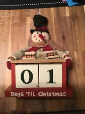 Christmas Snowman Countdown Decor