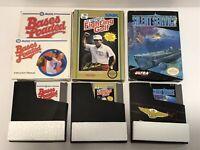 Lot of 3 Nintendo NES Games Box Silent Service Lee Trevino Golf Bases Loaded