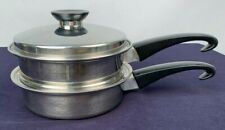 Seal-O-Matic Thermium Multi-Plex Stainless Sauce Pan & Steamer & Lid 3 Pc