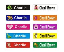 Personalised Name Labels Stickers Book Tags School Toddler Childcare toys Bag 36