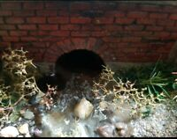 1/35 diorama accessorys Culvert Painted And Weathered X2