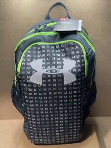 Youth Under Armour Scrimmage 2.0 Storm School  Backpack Gray/Green 1342652 B69