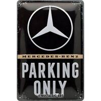 Mercedes Benz Parking Only Geprägt Metallschild 300mm x 200mm (Na )