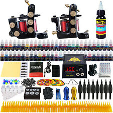 Solong Tattoo Complete Tattoo Kit 2 Machine Gun 54 Ink Needle Power Supply TKB06