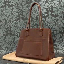 Rise-on Vintage HERMES LA Brown Box Calf Leather Handbag Tote bag #171