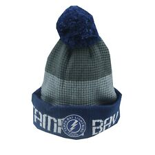 Tampa Bay Lightning NHL Reebok Youth Boys (8-20) Cuffed Pom Knit Winter Beanie