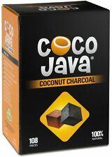 Coco Java Coconut Charcoal Natural Hookah Coal Shisha 108 Pieces / 1 KG Flats