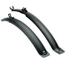 "SKS Hightrek 24-26"" Wheel Clip On Mountain Bike 28-35mm Mudguards Set Pair Black"