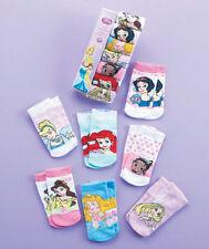 Disney Princess Girls Toddler Ankle Socks 7 Pair 4-6 Shoe Size 7-10 Cinderella +