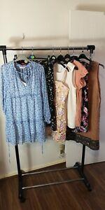 Womens Ladies Clothes Bundle Size 14 Midi Mini Dress Shirt Blouse Top Skirt FF5