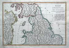 NORTHERN ENGLAND, UK, BRITAIN, Rigobert Bonne, original antique map 1780